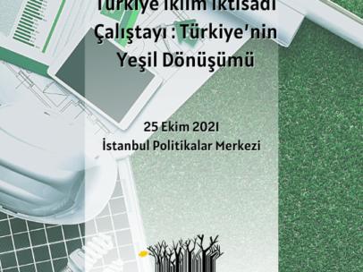 Türkiye İklim İktisadı Çalıştayı : Türkiye'nin Yeşil Dönüşümü